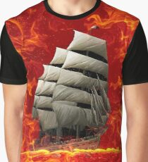 SHIP ON THE SEA OF FLAMES  Graphic T-Shirt