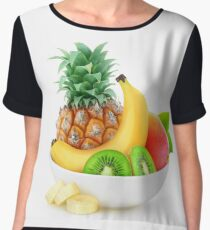 Tropical fruits in a bowl Women's Chiffon Top