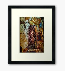 Miniature gothic windows from the glass, decoration elements, France Framed Print