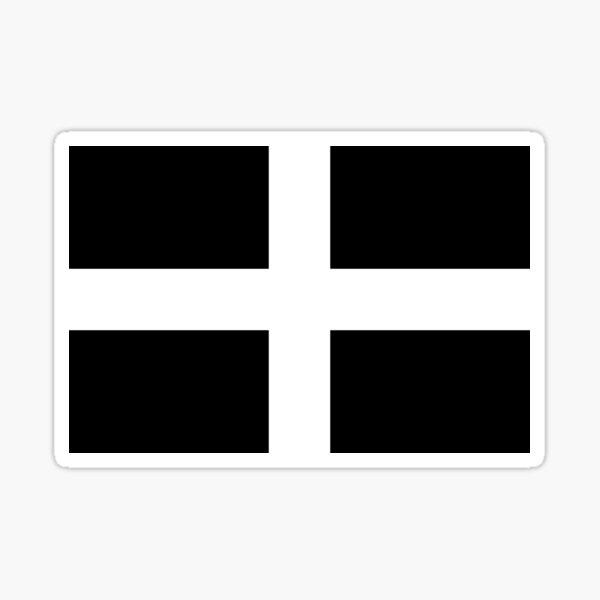 Saint Piran's Flag (Cornish Flag) Sticker