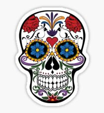 Decorated Skull Sticker