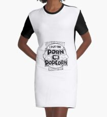 Popcorn Graphic T-Shirt Dress