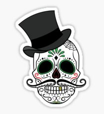 Decorative Skull with Hat Sticker