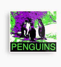 Poster Penguins Metal Print