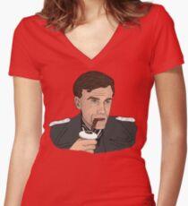 Hans Landa, Inglourious Basterds Women's Fitted V-Neck T-Shirt