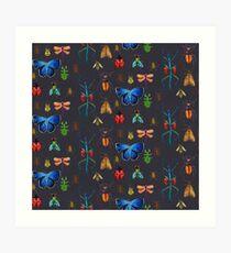 Entomology (Black) Art Print