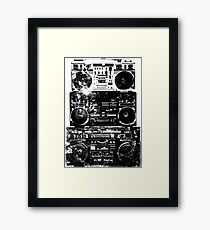Stack Of Boomboxes Art Framed Print