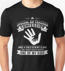 Special Ed Teacher Confession - Back To School Tee T-Shirt
