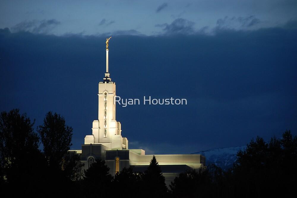 Mount Timpanogos Temple - Blue Twilight by Ryan Houston
