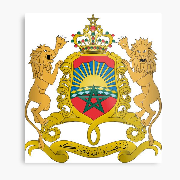 Morocco Coat of Arms Metal Print