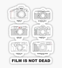 Film Is Not Dead - Vintage Film Photography Sticker