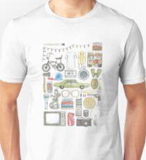 STRANGER DINGE Objekt Illustration Widerhaken Gläser Zitat Eier 011 auf den Kopf gestellt demogorgon elf Slim Fit T-Shirt