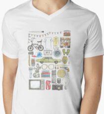 STRANGER THINGS object illustration barb glasses quote eggs 011 upside down demogorgon eleven Men's V-Neck T-Shirt