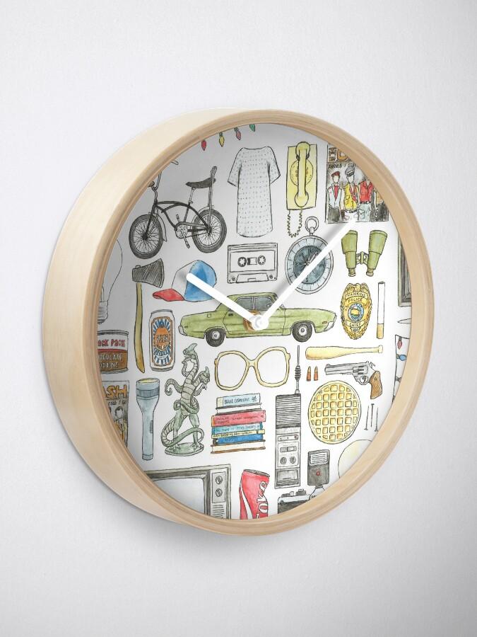 Vista alternativa de Reloj Cosas EXTRAÑAS Objeto ilustración gafas de barbilla citar huevos 011 boca abajo demogorgon once