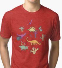Dinosaur Desert Tri-blend T-Shirt