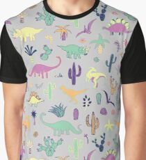 Dinosaur Desert Graphic T-Shirt