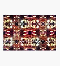 Glass Heads Pattern - Psychedelic - Sci-Fi Photographic Print