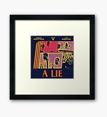 Abstract Lie Framed Print