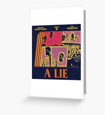 Abstract Lie Greeting Card