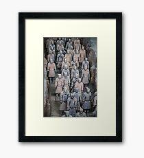 China. Xian. Terracotta Army. Framed Print