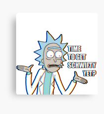 Time to get schwifty yet?   Retro Canvas Print