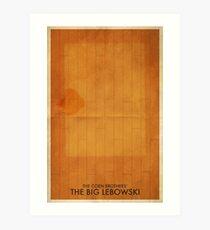 The Big Lebowski Minimal Poster Art Print