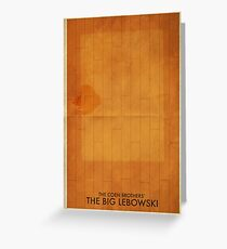 The Big Lebowski Minimal Poster Greeting Card