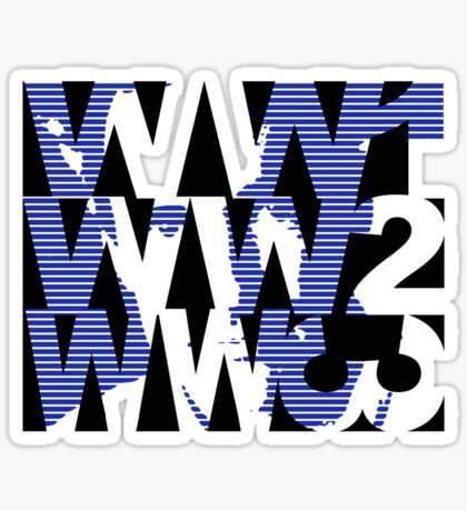 TB-L (www has lots of pointy triangles in it) Sticker