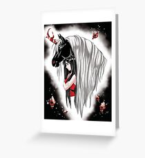 Goth Girl and Unicorn Greeting Card