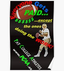 PCAA Design 3 Tee: Pay College Athletes Poster