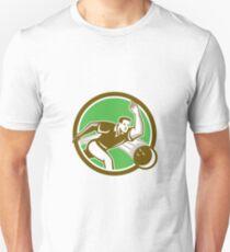 Bowler Throwing Bowling Ball Circle Retro T-Shirt