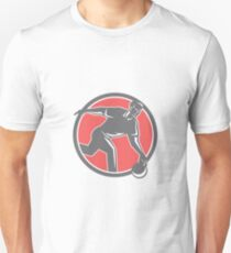 Bowler With Bowling Ball Circle Retro T-Shirt