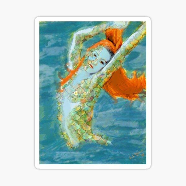Ginger Mermaid  Sticker