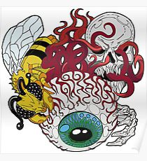 The Eye of Cthulhu, Queen Bee and Skeleton Poster