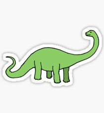 Happy Diplodocus - dinosaur design by Cecca Designs Sticker