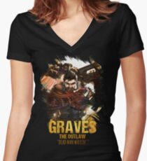 League of Legends GRAVES - [The Outlaw] Women's Fitted V-Neck T-Shirt