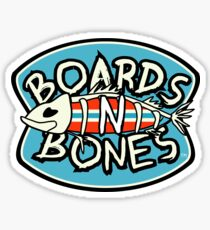 BoardsNBones Logo Sticker - Blue with Red Sticker