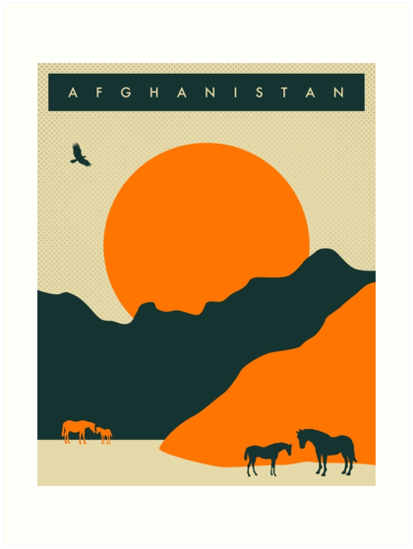 Afghanistan Travel Poster by JazzberryBlue