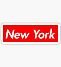 New York, Supreme style box logo Sticker