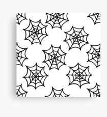 spider web seamless doodle pattern Canvas Print