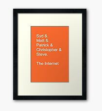 The Internet Framed Print