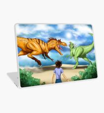 T Rex Dinosaur Battle Laptop Skin