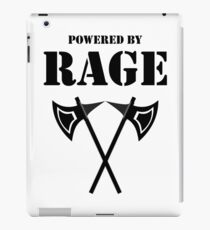 POWERED BY RAGE BARBARIAN RPG Class iPad Case/Skin