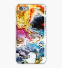 Abstract Orange Purple Blue and Red Modern Art Phone Case Skin iPhone Case/Skin