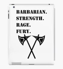 STRENGTH RAGE FURY Barbarian RPG Class iPad Case/Skin