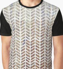 Teak Herringbone Graphic T-Shirt