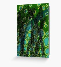 Palms in the Rain Greeting Card