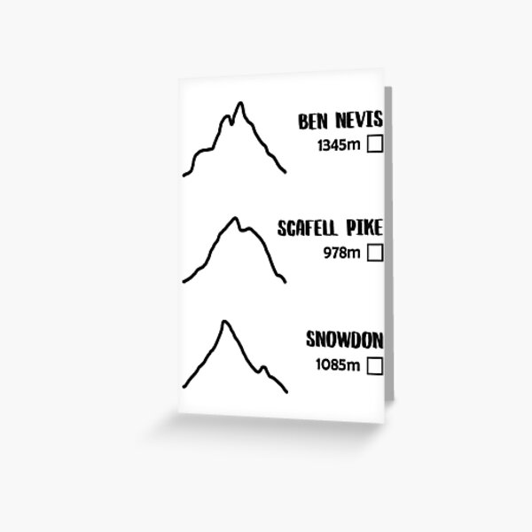 Three Peaks Challenge Tick-Off Greeting Card