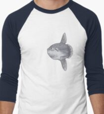 Mondfisch Fisch Baseballshirt für Männer