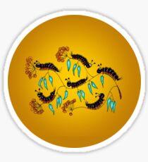 Bristly Caterpillars Sticker
